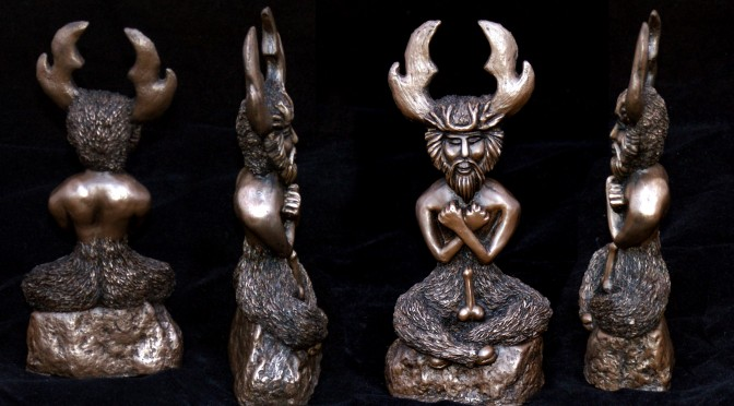 Horned God sculpture