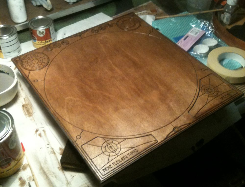board-stained
