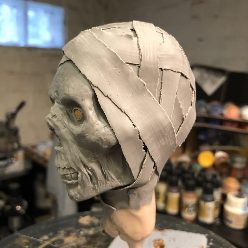 mummy sculpture wip